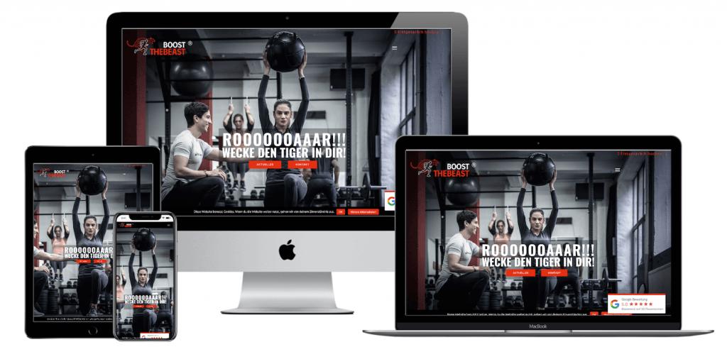 Webdesign - Boost the Beast - Projekt Weis Digital
