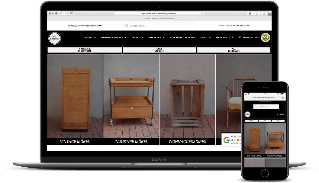 Webdesign Online Shop Viersen