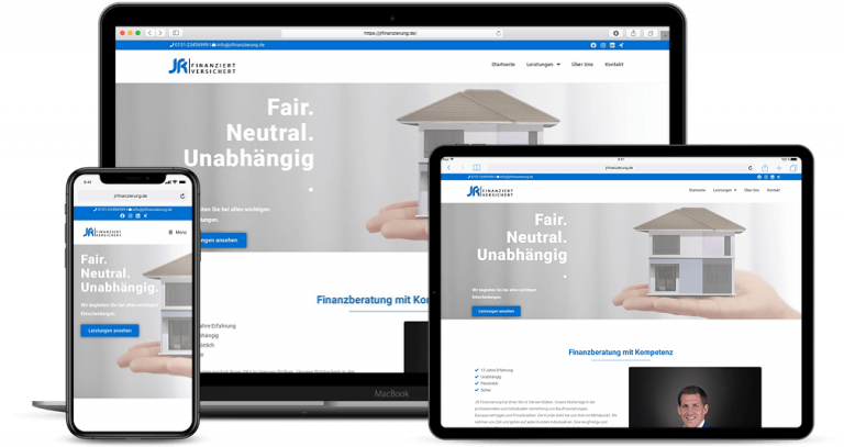 Webdesign Viersen - JR Finanzierung