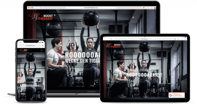 Webdesign - Google Optimierung Projekt Boost the Beast