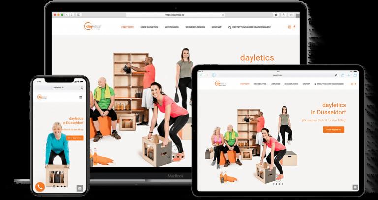 Webdesign Projekt dayletics