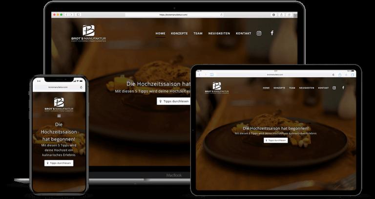 Webdesign Projekt Brotsmanufaktur Düsseldorf